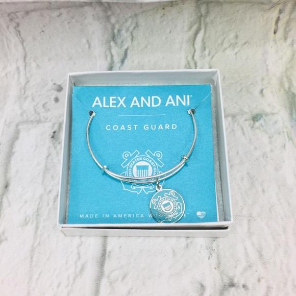 Alex and Ani Coast Guard Silver Tone Bracelet